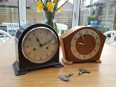 2X SMITHS / ENFIELD CHIMING MANTLE CLOCKS 1950s
