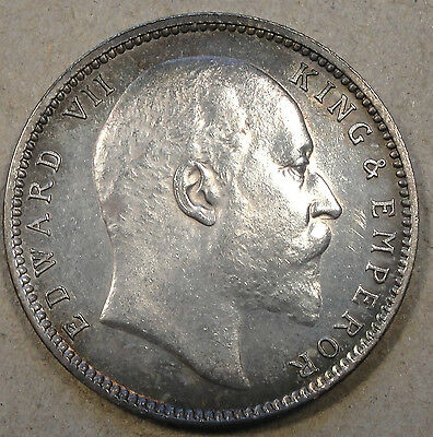 British India 1903C Rupee Lusterous as Close as you can get to BU! AU+++