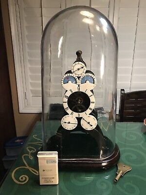 ANTIQUE SKELETON CLOCK With Day/. Week/momth/