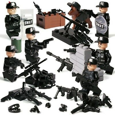 Custom Military Army Block Soldier With Weapons Accesories Building Minifigures