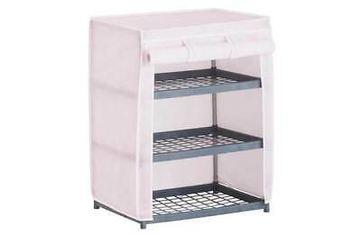 3 Drawer Drawers Shelf Canvas Metal Storage Unit Wardrobe Pink Girls Butterfly