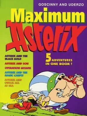 "Maximum Asterix 5 In 1 Bind Up: ""Asterix and the B... by Goscinny, Ren� Hardback"