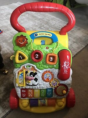 VTech First Steps Baby Walker Complete With Phone Yellow Unisex Interactive