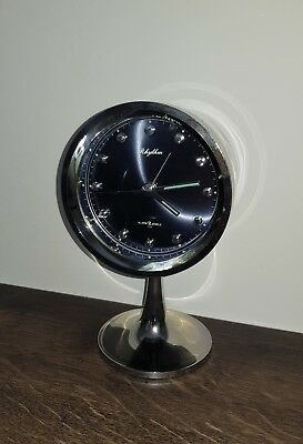 RHYTHM Vintage Space Design Stylischer Wecker Alarm Japan Tulip 70ies