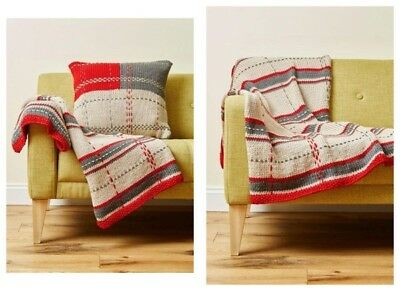Deramores COMPLETE KIT Studio Chunky Tartan Throw 10 x 100g Colour Pack/ Pattern