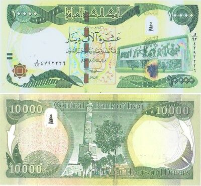 10000 New Iraqi Dinars 2015 With New Security Features Iqd-Unc!  P 101-B