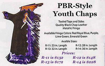 PBR-style Youth Rodeo CHAPS - PBR/PRCA/Little Britches/Junior Rodeo