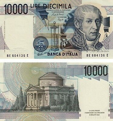 Uncirculated Italy 10.000 Lire Volta banknote 1984 UNC !! Free Shipping !!