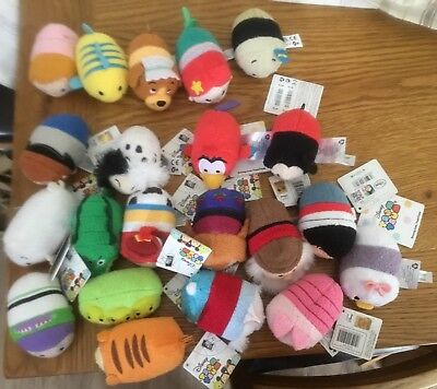 Lot of Disney Tsum Tsums Plush most with tags Toy Story Tigger Mickey Mouse