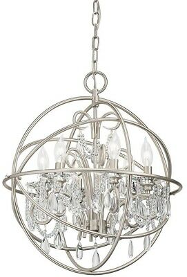 Kichler Vivian 1902 In 6 Light Globe Chandelier Brushed Nickel Adjustable Chain