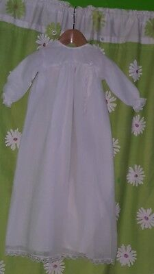 "VINTAGE ROB ROY CHRISTENING GOWN BABY/REBORN. Pit to pit 11"" length 27"""