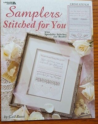 4 Sampler charts with Speciality Stitches & Threads - by Gail Bussi Leisure Arts