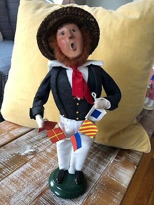 Byers Choice Carolers Nautical Man with Flags - 2007