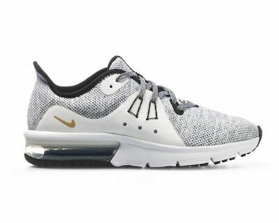 finest selection 77ca9 7ddf3 Sale Nike Air Max Sequent 3 GS 922884 007 Trainers White Gym Running Shoes