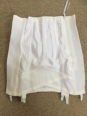 Vintage Fantasie Suspender Girdle Zipped Open Bottom Corset Unworn  Size 30""