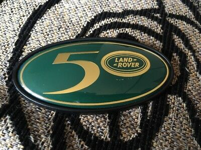LAND ROVER 50th OVAL BADGE  Defender Discovery Range Rover