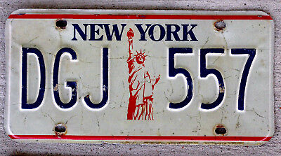 "New York ""Statue of Liberty"" License Plate"
