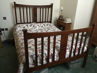 "Edwardian Double Bed Frame ""Vono"" With Headboard And Footboard"