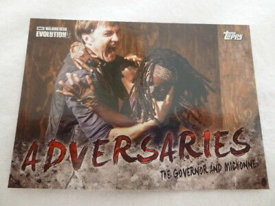 The Walking Dead Evolution Adversaries Chase Card AD-8 The Governor and Michonne