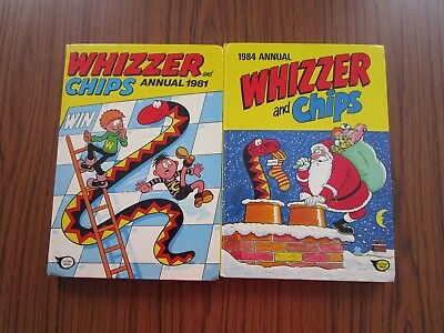 Whizzer And Chips Annuals 1981 & 1984