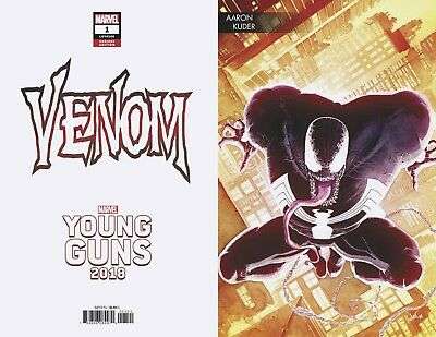 VENOM #1 KUDER YOUNG GUNS VARIANT 2018 New Series Donny Cates 5/9/2018
