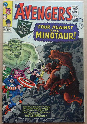 The Avengers #17, Silver Age Marvel Classic With 'the Minotaur'
