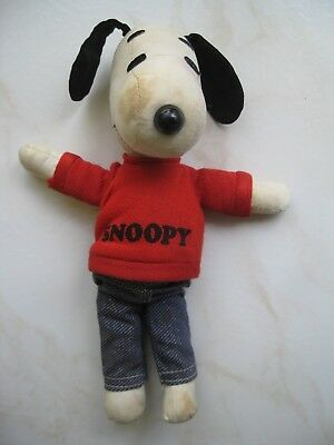 "Vintage 1958 1968 ""Snoopy"" United Feature Syndicate Stuffed Animal"