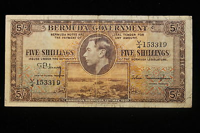 1937 Bermuda. (5) Five Shillings.