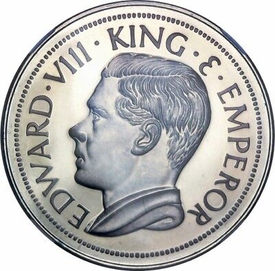 HONG KONG 1936 KING EDWARD VIII CROWN ~ KM-XM7b - GEM CAMEO PROOF ~ 200 MINTAGE