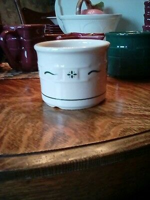 Longaberger Pottery Crock 1 Pint  Woven Traditions Heritage Green