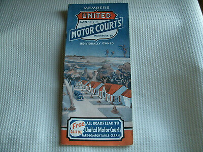Vintage 1930's United Motor Courts Guide