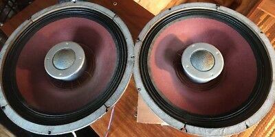 "Stromberg Carlson Tube 15"" Coaxial Alnico Speakers Barzilay Stereo Two Way"