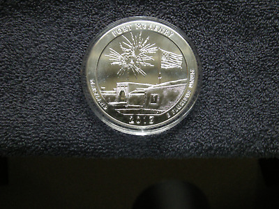2013 FORT McHENRY 5 OZ  SILVER COIN AMERICA THE BEAUTIFUL SERIES