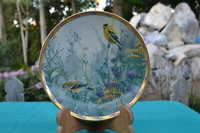 Lenox Natures Collage Golden Splendor Collectors Plate Catherine McClung 1992