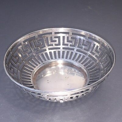 ADIE BROS Sterling Silver Reticulated Decorative Bowl, XLNT, 48 Grams