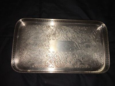 """Small Heavy Silver Tray stamped 5"""" x 8"""""""