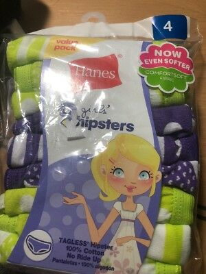 Hanes Girls Hipsters Size 4 Multi Colored Package of 9
