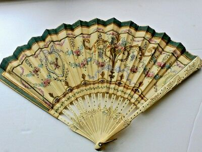 EARLY 20th CENTURY CHINESE HAND PAINTED FAN  FRONT & BACK - BEAUTIFUL