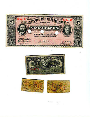 4 Old Banknotes and Cartones