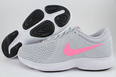 172bd6ad8a7 Nike Revolution 4 Wide D Platinum Silver pink white Gray Running Us Women  Sizes