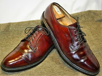 Florsheim Royal Imperial V-Cleat 5 Nail Shell Cordovan  Plain Toe Blucher-12 E