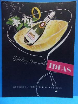 Vintage American Wine Co St Louis Cook's Imperial Champagne Booklet Recipes 1949