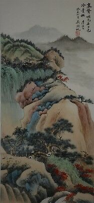 Exquisite Large Chinese Painting Signed Master Wu Hufan Rare Vr1576