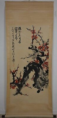 Magnificent Large Chinese Painting Scroll Signed Master Guan Shanyue Rare Ji7251