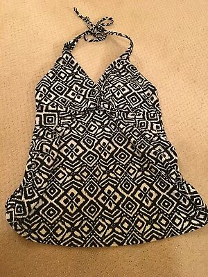 Old Navy Black And White Maternity Bathing Suit Top Size S