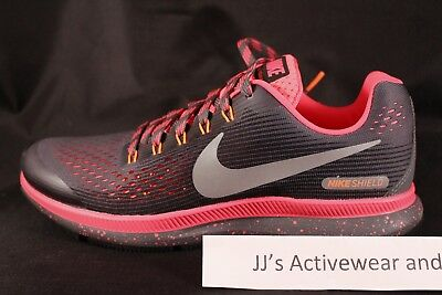 75566e559342 NIKE ZOOM PEGASUS 34 GS Shield Youth Running Shoes Grey Pink 922849-001 5.5Y