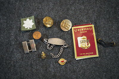 Vintage Lot of Military Items Bracelet Pins & More