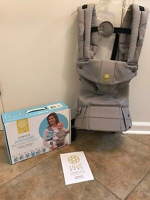 EUC LILLEbaby 6-Position Complete Airflow Baby Carrier, Gray