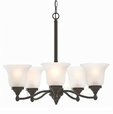 Portfolio kingsmere 3 light oil rubbed bronze chandelier new portfolio roseall 2297 in 5 light frosted shaded chandelier oil rubbed bronze aloadofball Image collections
