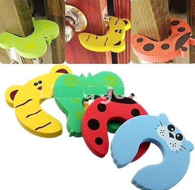 FD843 Safety Baby Door Stop Finger Pinch Guard Lock Jammer Stopper Protector 1PC